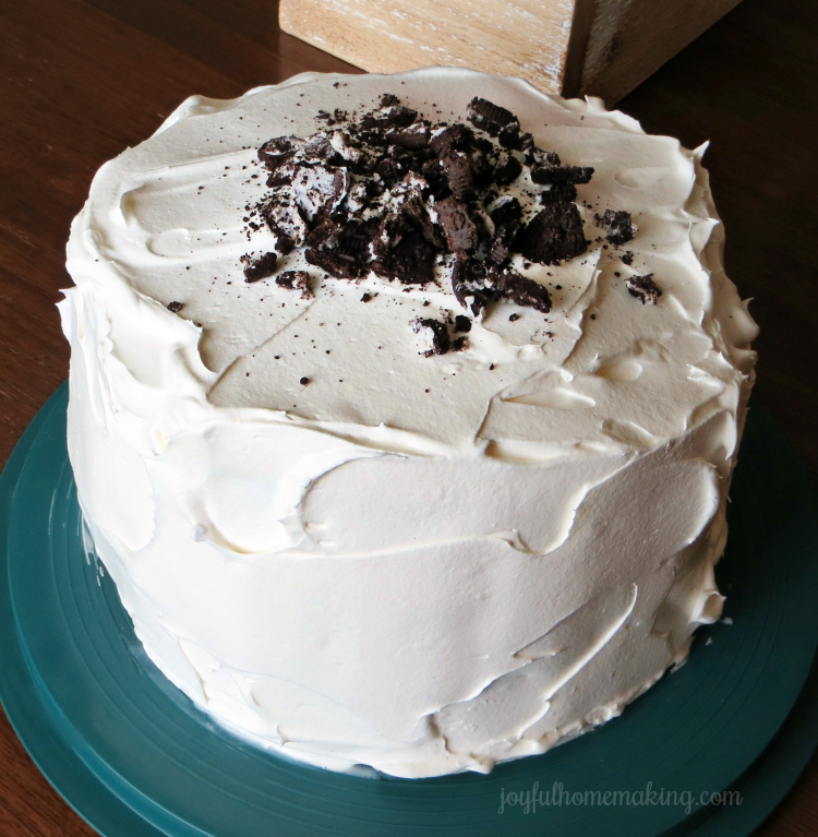 ice-cream cake, Chocolate and Vanilla Ice-Cream Cake, Joyful Homemaking