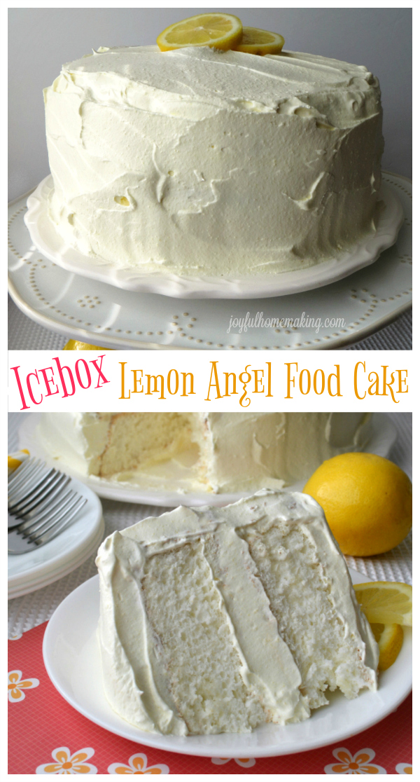 Icebox Lemon Angel Food Cake