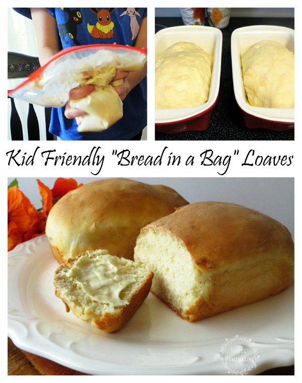 Kid friendly bread in a bag mini loaves