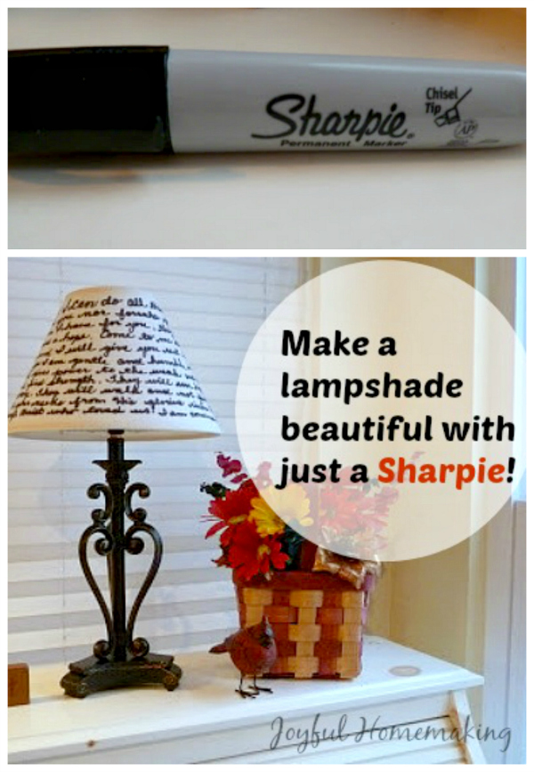 Decorate a Lampshade with a Sharpie