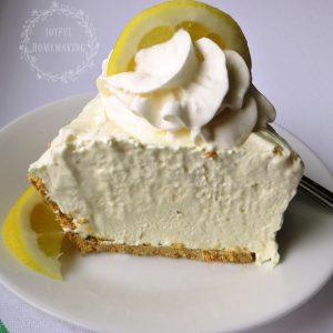 3 Ingredient Icebox Lemon Pie, Joyful Homemaking