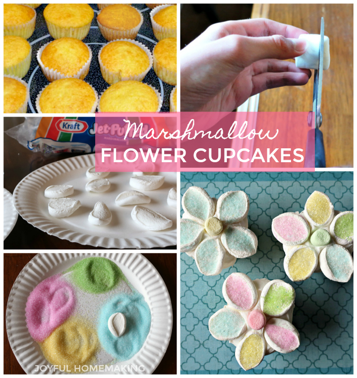 Gorgeous Edible Flower Cupcakes, Joyful Homemaking