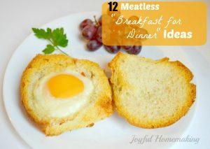 meatless breakfast for dinner ideas