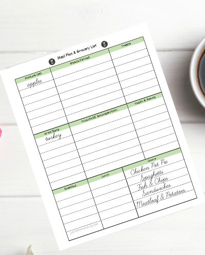 , Meal Plan for the Week of October 6th, Joyful Homemaking