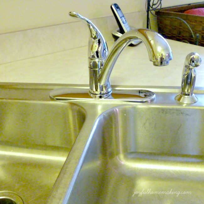 Vinegar As A Mineral Deposit Sink Cleanser Joyful Homemaking