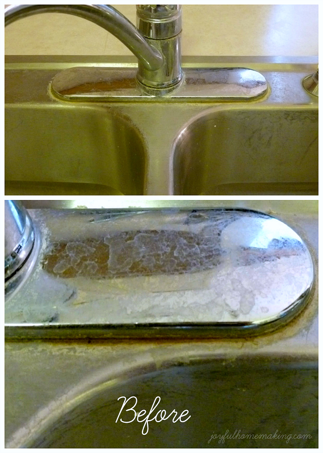 Get rid of mineral deposits on sinks