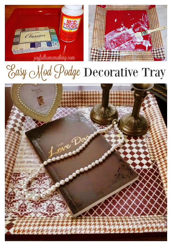 Easy Mod Podge Decorative Tray