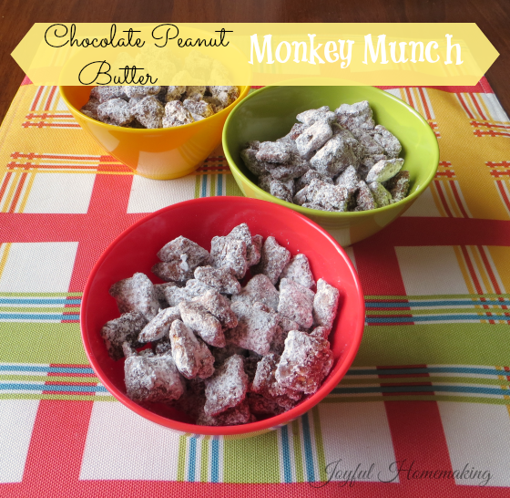 "monkey munch, ""Monkey Food"", Joyful Homemaking"