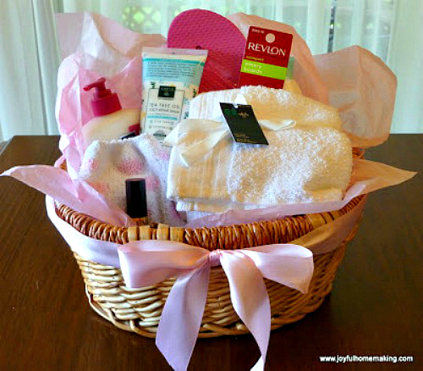 foot care gift basket