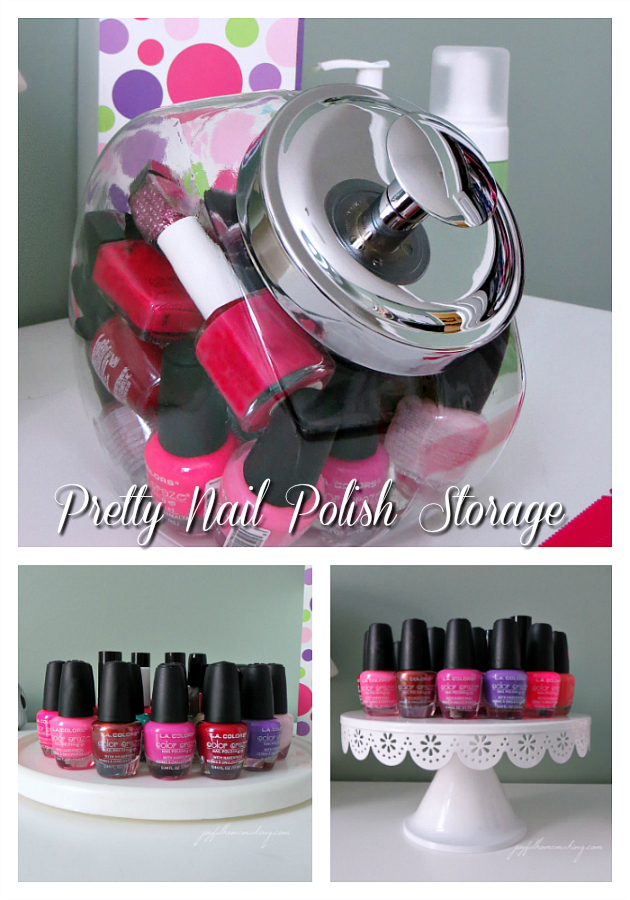 pretty nail polish storage and organization