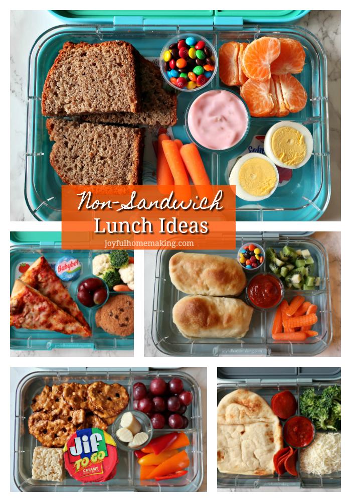 Non-Sandwich Lunch Ideas with Printable, Joyful Homemaking