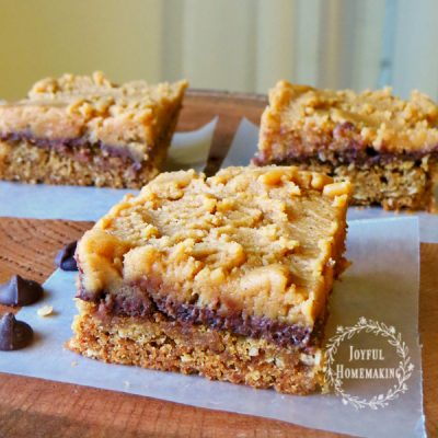 Oatmeal Peanut Butter Chocolate Cookie Bars