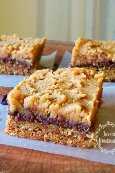 , Toffee Blondie Bars, Joyful Homemaking