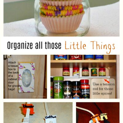 Organizing those Little Things