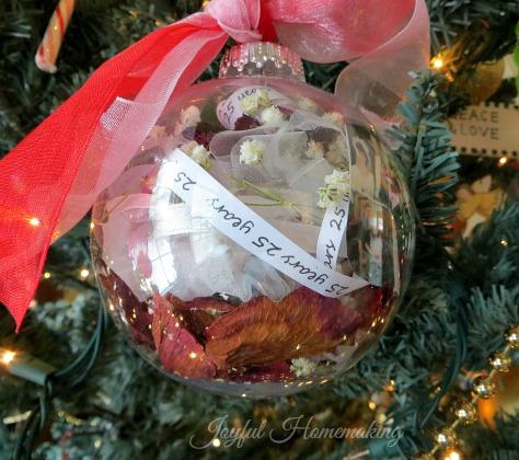 , Anniversary Ornament, Joyful Homemaking