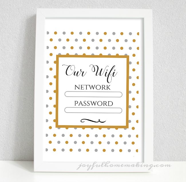 photograph about Wifi Password Printable Free referred to as Wifi printable - Content Homemaking