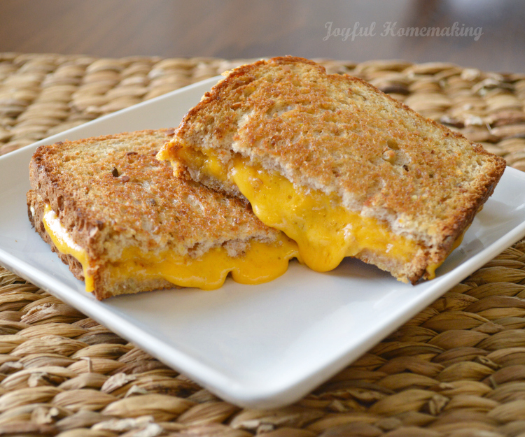oven grilled cheese large