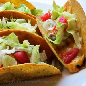 Baked Tacos, Baked Tacos, Joyful Homemaking