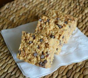 peanut butter and chocolate rice crispy treats