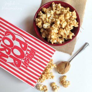 peanut butter popcorn, Yummy Peanut Butter Popcorn, Joyful Homemaking