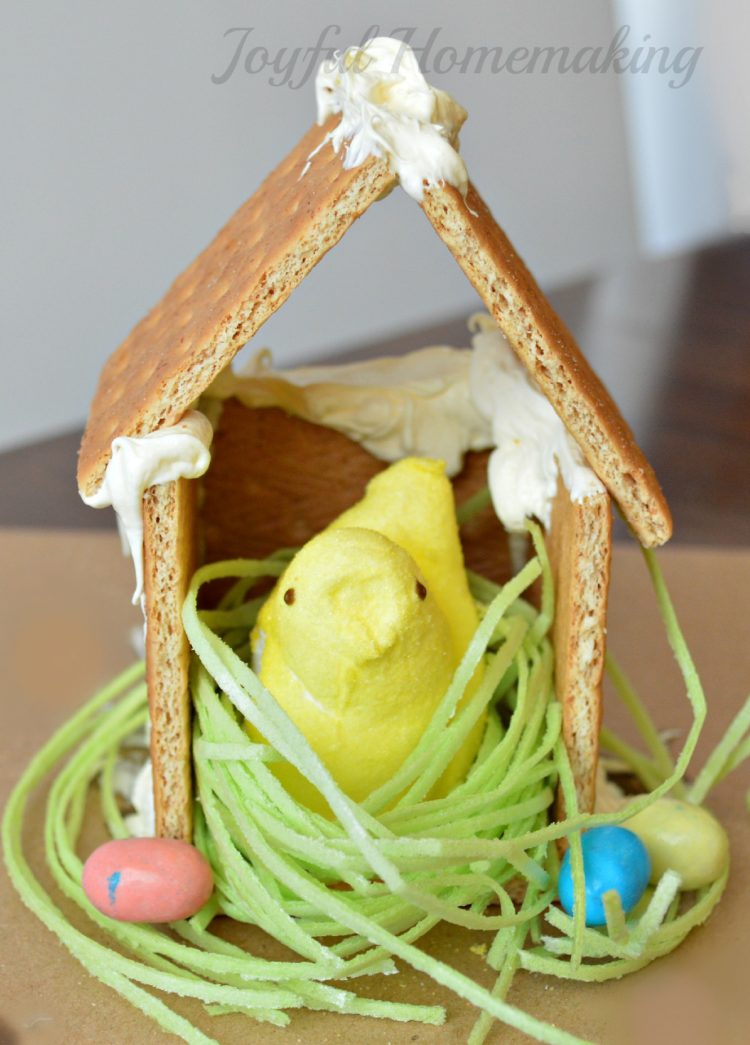 Peeps houses craft for kids