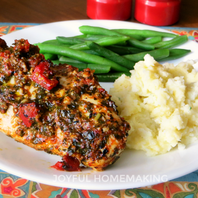 Tomato and Pesto Baked Chicken