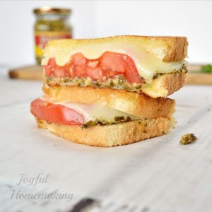 Grilled Cheese with Tomato and Pesto, Grilled Cheese with Tomato and Pesto, Joyful Homemaking