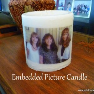 Photo Transfer onto a Candle