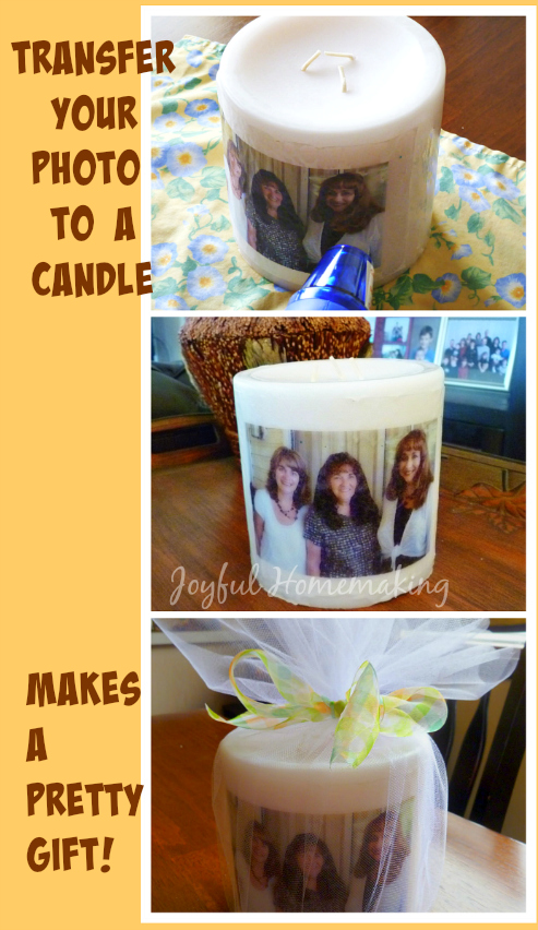 photo transfer candle
