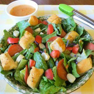 Pizza Bread Salad, Pizza Bread Salad, Joyful Homemaking