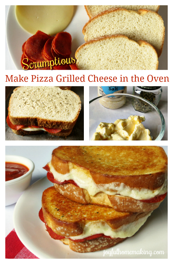 Pizza Grilled Cheese in the Oven