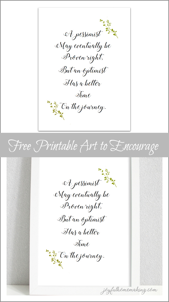 Free Optimist Printable