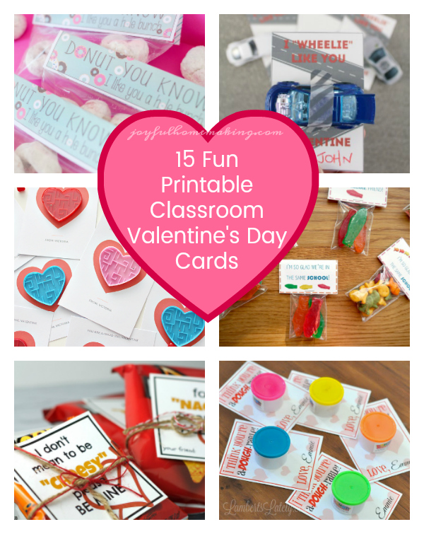 Classroom Valentine's Day Cards Printables