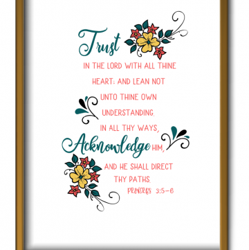 Proverbs 3:5-6 Printable, Joyful Homemaking