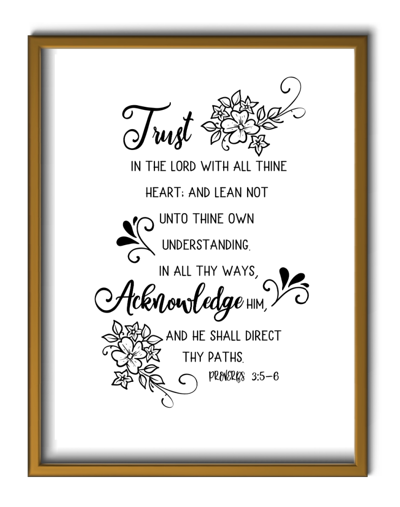 , Proverbs 3:5-6 Printable, Joyful Homemaking