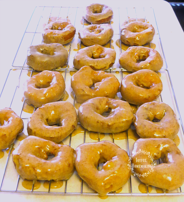 pumpkin doughnuts, Easy Pumpkin Glazed Doughnuts, Joyful Homemaking