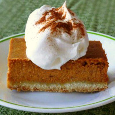 "Pumpkin ""Pie"" with a Shortbread Crust"