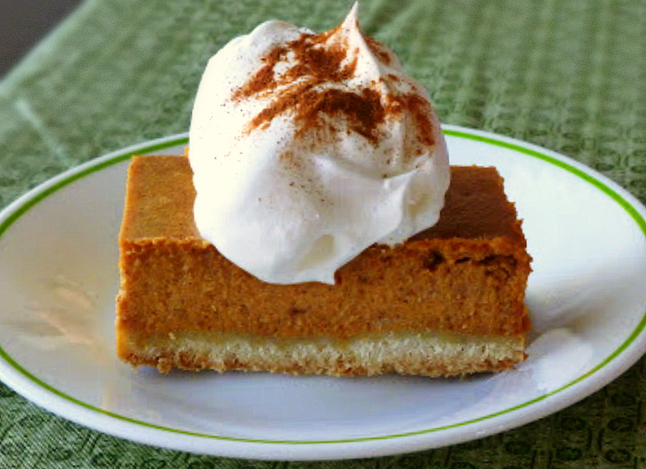 Pumpkin Pie with a Shortbread Crust