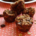 Vegan Raisin Date Pecan Mini Muffins