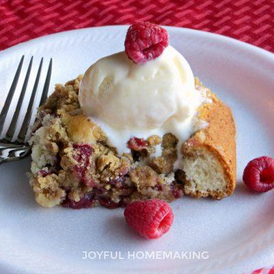 Raspberry Pie Cake