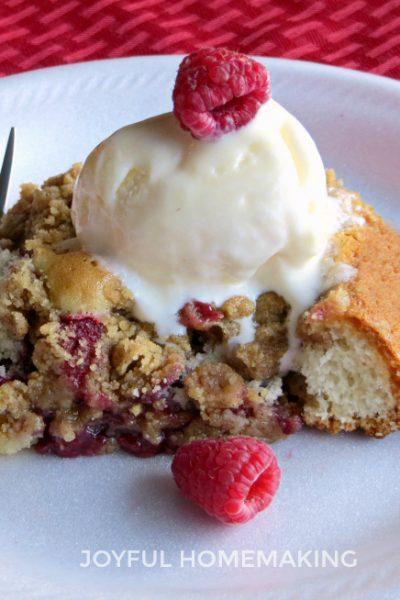 raspberry coffee cake, Breakfast Raspberry Coffee Cake, Joyful Homemaking