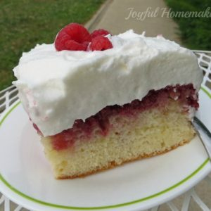 Lemon Raspberry Cake, Joyful Homemaking