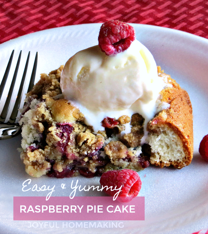 Raspberry Pie Cake, Raspberry Pie Cake, Joyful Homemaking