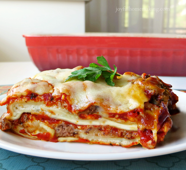 ravioli lasagna, Easy Ravioli Lasagna, Joyful Homemaking