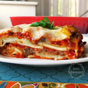 Easy Ravioli Lasagna, Joyful Homemaking