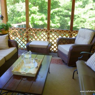 Screened Porch Makeover