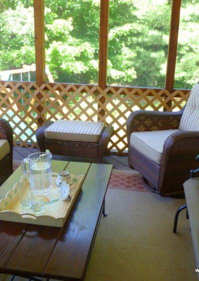 Summer Porch, Summertime in My Yard, Joyful Homemaking