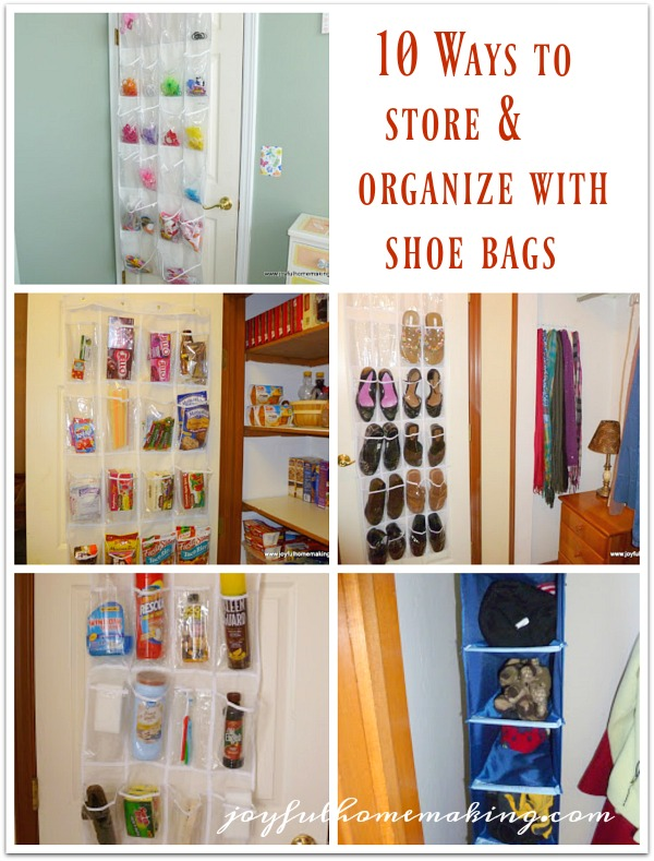 organize with shoe bags