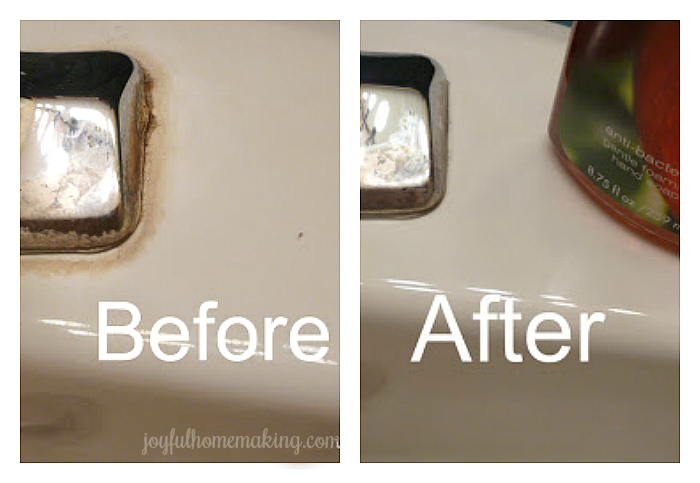 Get rid of stains around sink