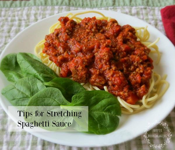 Stretching Spaghetti Sauce, Joyful Homemaking